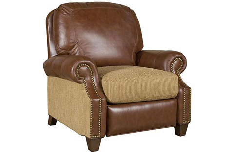 King Hickory - Jefferson Fabric and Leather Recliner - 0137-LFR