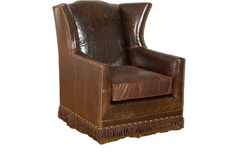 King Hickory - Athens Leather Swivel Chair - 50771-SL