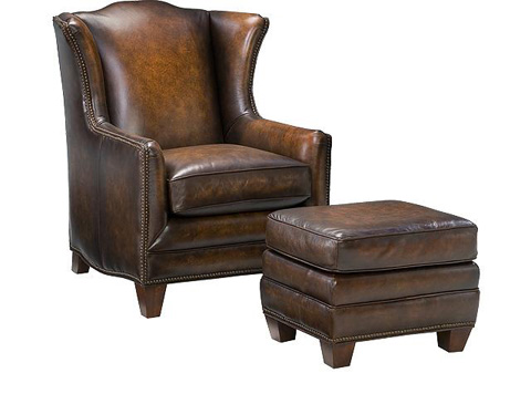 King Hickory - Athens Leather Ottoman - 50778-L