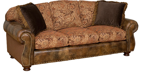 King Hickory - Helen Leather and Fabric Sofa - 56150-LF