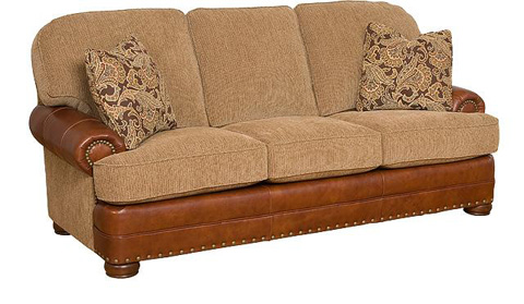 King Hickory - Edward Leather and Fabric Sofa - 58150-LF