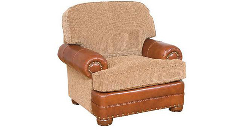 King Hickory - Edward Leather and Fabric Arm Chair - 58151-LF