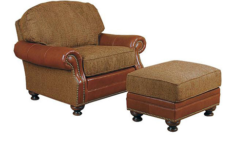 King Hickory - Boston Leather and Fabric Chair - 58451-LF
