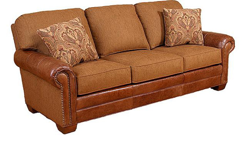 King Hickory - Candice Leather and Fabric Sofa - 58650-LF