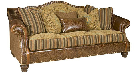 King Hickory - Red Rock Leather and Fabric Sofa - 6500-LF