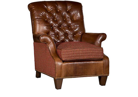 King Hickory - Prestwick Leather Fabric Chair - C20-01-LF