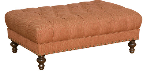 King Hickory - Campaign Tufted Ottoman - W-108