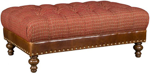 King Hickory - Campaign Leather Ottoman - W-108-LF