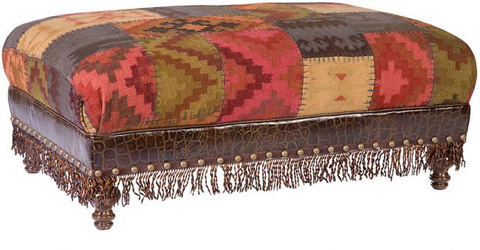 King Hickory - Campaign Ottoman with Fringe - W-118-LF