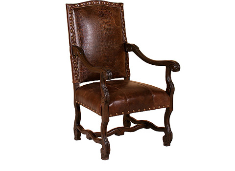 King Hickory - William Leather Arm Chair - W-991-L