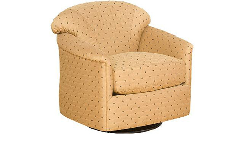 Image of Zeuss  Fabric Swivel Glide Chair