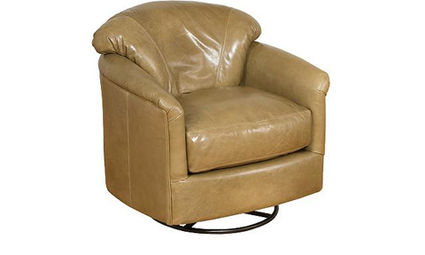 King Hickory - Zeuss Leather Swivel Glide Chair - 0541-SL