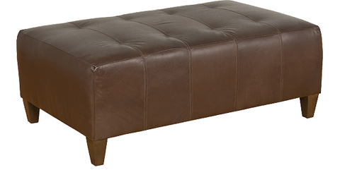 King Hickory - Chicago Leather Upholstered  Ottoman - 0888-L