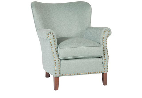 King Hickory - Fleming Chair with Nailhead Trim - C27-01