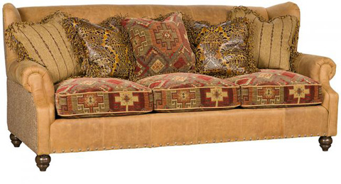 King Hickory - Lucy Leather Fabric Sofa - 5200-LF