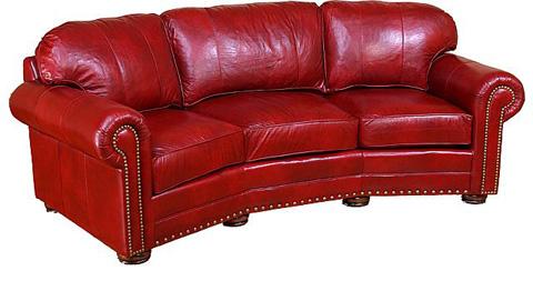 Ricardo Leather Conversation Sofa 9965 L King Hickory