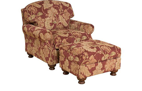 King Hickory - Bailey Fabric Chair and Ottoman - 4351/4358
