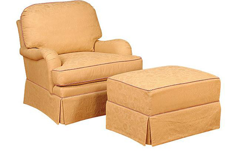 King Hickory - Daphney Chair with Ottoman - 0581/0588