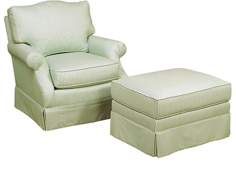 King Hickory - Rachel Chair with Ottoman - 0381/0388