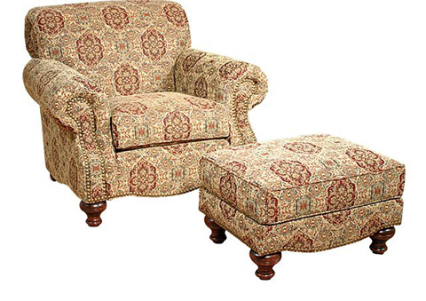 King Hickory - Roxanne Fabric Chair and Ottoman - 4101/4108