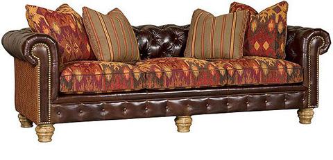 King Hickory - Empire Leather/Fabric Sofa - 2900-LF