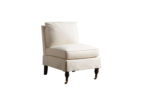 Klaussner Home Furnishings - Clara Armless Chair - D860M AC