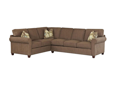 Klaussner Home Furnishings - Lillington Sectional - D70200L CRNS/D70200R S