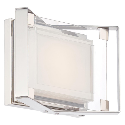 George Kovacs Lighting, Inc. - Crystal Clear LED Bath Sconce - P1181-613-L