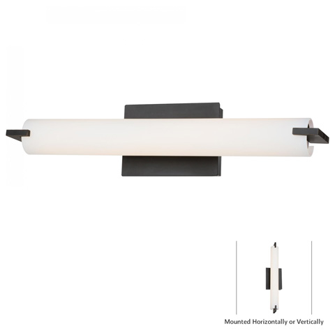 George Kovacs Lighting, Inc. - Tube Bath Wall Sconce - P5044-37B-L