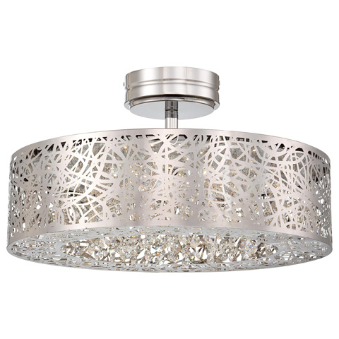 George Kovacs Lighting, Inc. - Hidden Gems LED Semi Flush - P985-077-L