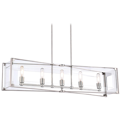 Image of Crystal Clear Five Light Island Fixture