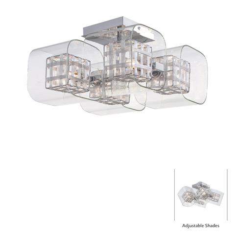 Image of Jewel Box Four Light Semi Flush Mount