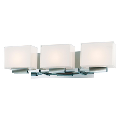 Image of Cubism Three Light Bath Wall Sconce
