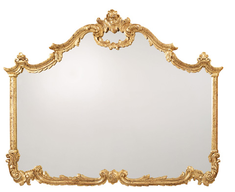 Image of Baroque Hand Carved Overmantel Mirror