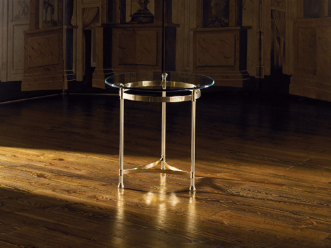 La Barge - Polished Solid Brass Lamp Table - 8253
