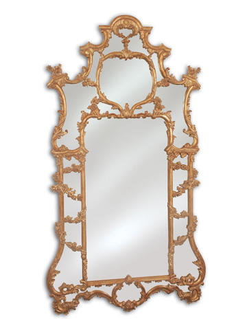 La Barge - Hand-Carved Overscaled Baroque Mirror - LM1791