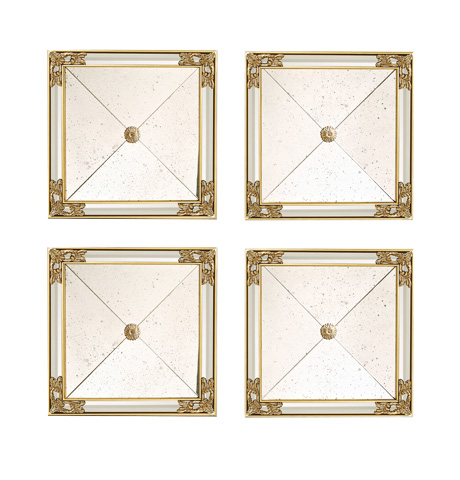 Image of Set of Four Square Mirrors