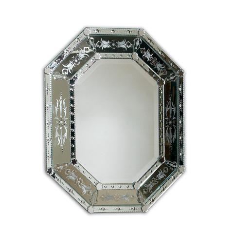 La Barge - Shaped Venetian Glass Mirror - LM1976