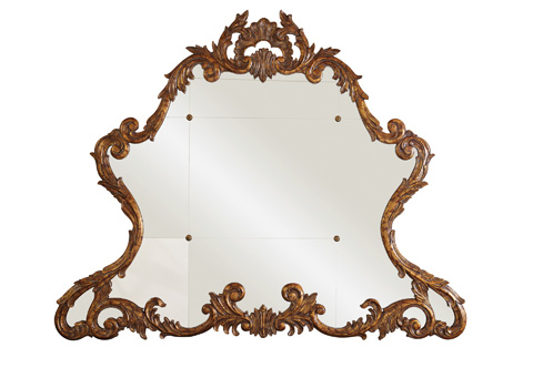 Image of Carved Acanthus Leaf Gold Gilded Mirror