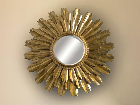La Barge - Decorative Gold Gilded Sunburst Wall Mirror - LM2460