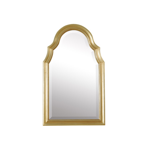 Image of Arched Gold Gilded Frame Mirror