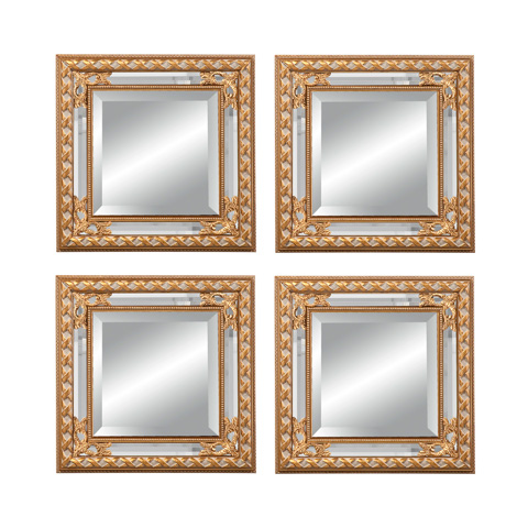 La Barge - Set of Four Gold Gilded Mirrors - LM2501