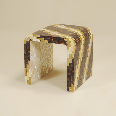 La Barge - Various Shell Inlaid Occasional Table - LT8653
