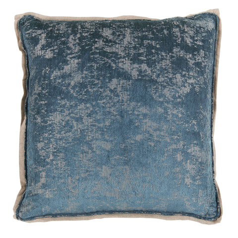 Lacefield Designs - Fog Blue Antiqued Chenille Throw Pillow - D1049