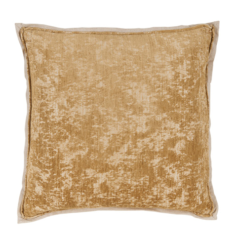 Lacefield Designs - Brass Gold Antiqued Chenille Throw Pillow - D1051