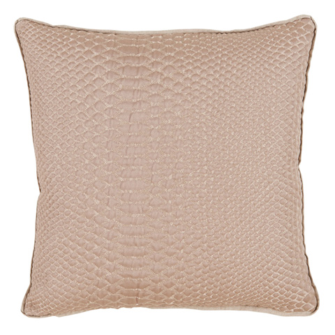 Lacefield Designs - Gold Taupe Alligator Print Throw Pillow - D1059