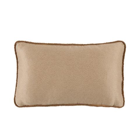 Lacefield Designs - Gold NeutralShagreen Beaded Lumbar Pillow - D1061