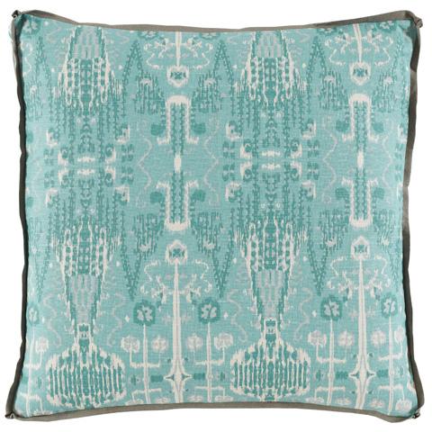 Image of Aqua Ikat Bombay Mist Pillow