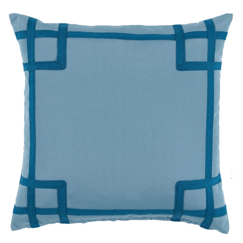 Lacefield Designs - Blue Tonal Corner Tape Print Outdoor Pillow - OUT04