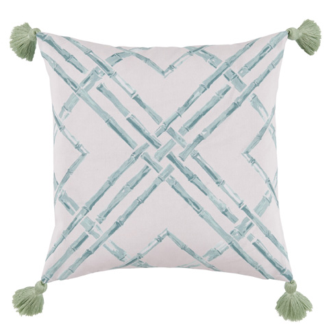 Lacefield Designs - Mint Surf Bamboo Thread Print Outdoor Pillow - OUT23